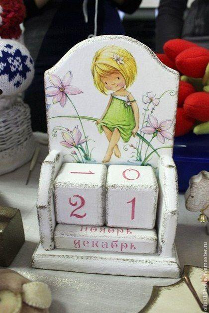 """Детская ручной работы. Ярмарка Мастеров - ручная работа Вечный календарь """"Девочка-весна"""". Handmade."""