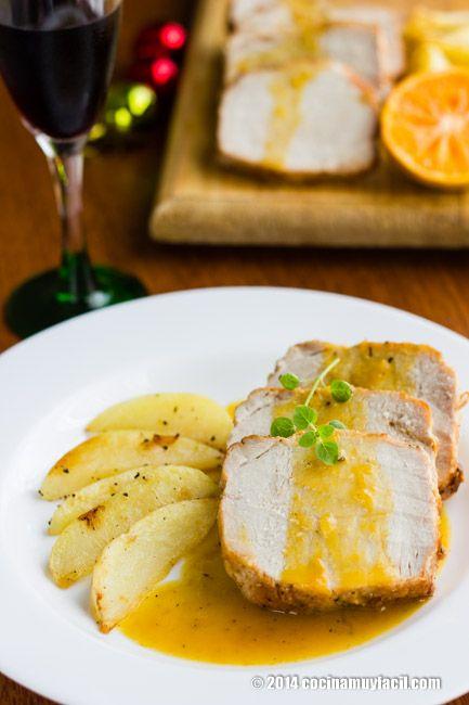 Lomo de cerdo en salsa de mandarinas. Receta para Navidad | Cocina Muy Fácil | http://cocinamuyfacil.com
