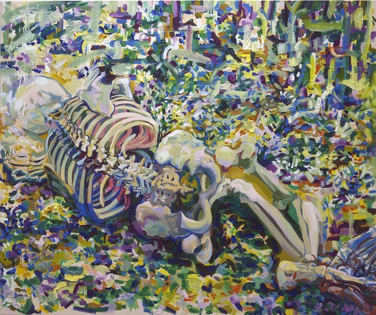 Laying Landscape. 2012. oil on canvas 49x59''/125x150cm