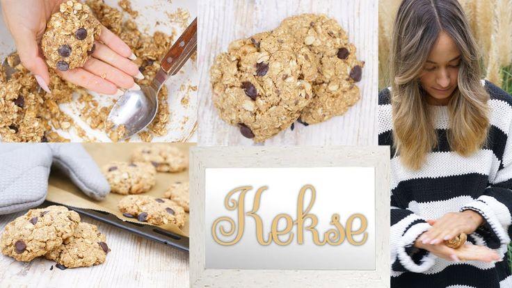 Gesunde Cookies - vegane Kekse schnell und einfach backen - Gesunde Snackidee - YouTube
