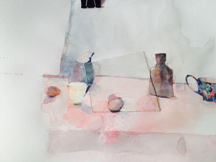 watercolour on paper,  odette marais