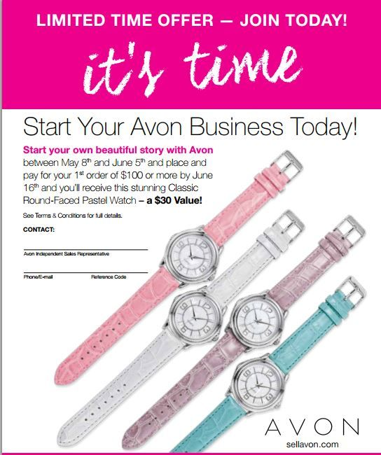 how to become an avon agent