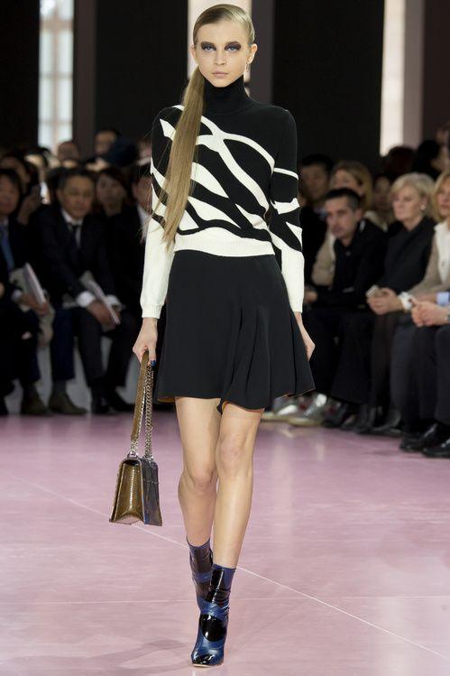 Tendance mode noir et blanc graphique Dior automne hiver 2015-2016