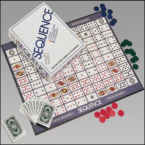 Sequence Classic Strategy Card Board Game Family Night Favorite Challenging #Jax