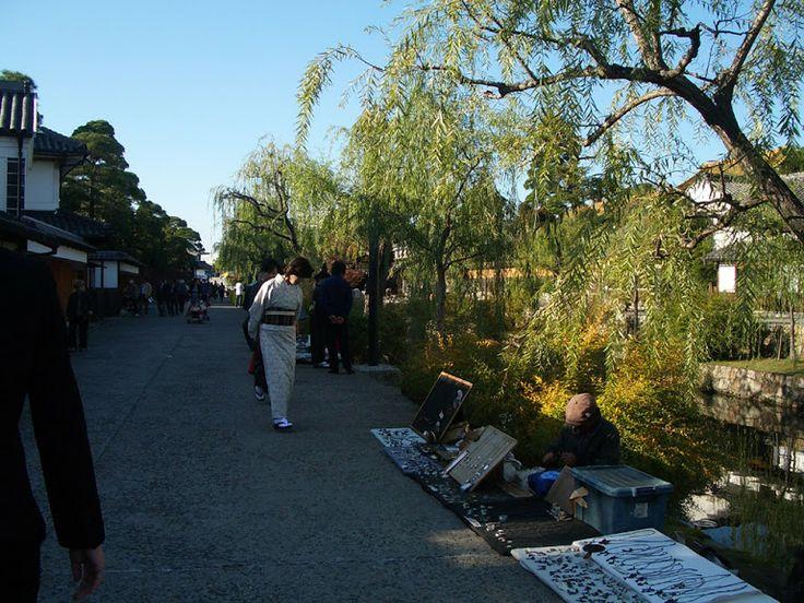 倉敷 夕方の美観地区