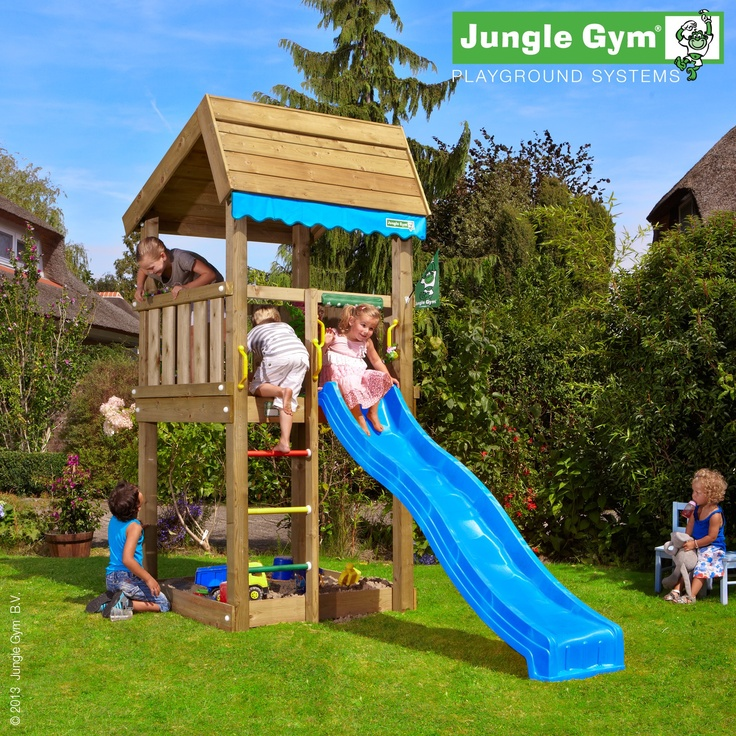 Jungle Home - Home sweet home, in this cozy play tower kids will also feel at home in the garden of their real home.
