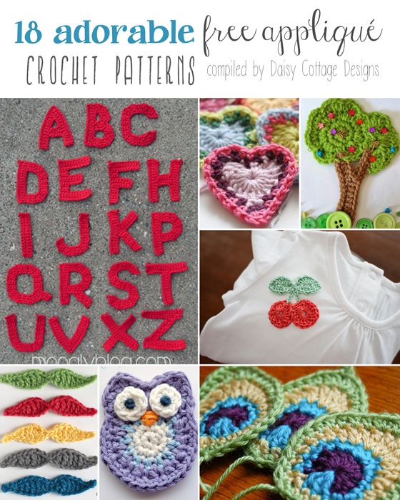 18 Free Applique Crochet Patterns