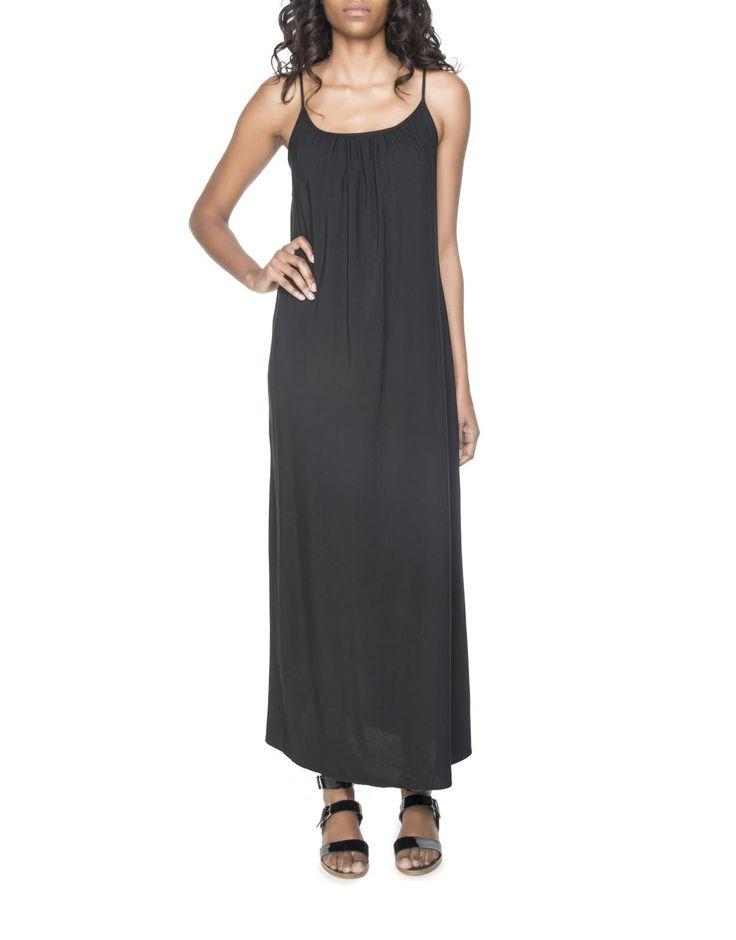 Viscose Gathered Maxi Dress