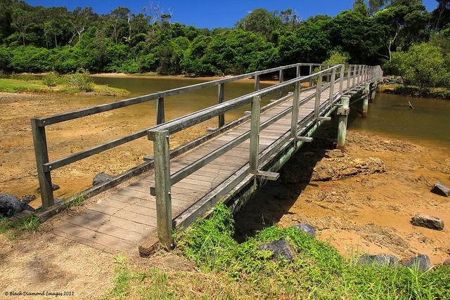 Stingray Creek Footbridge - Moonee Beach Nature Reserve, Coffs Harbour, NSW, Australia    Copyright - All Rights Reserved - Black Diamond Images