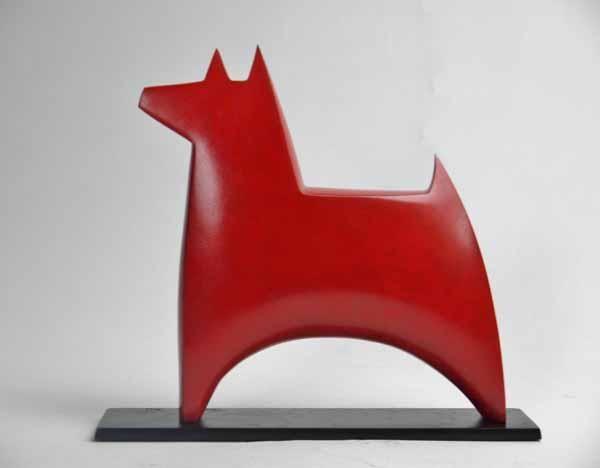 Junction Art Gallery - Dogstar, bronze edition 5/12 £1,000.00 http://www.junctionartgallery.co.uk/artists/sculpture/stephen-page/dogstar