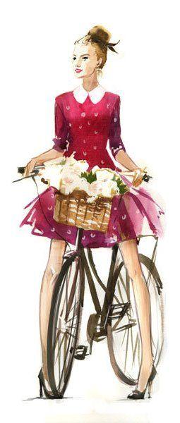 Veronika Kalacheva fashion illustration.
