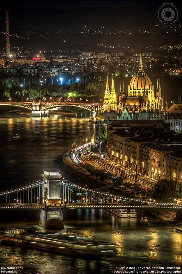That Budapest view at night.