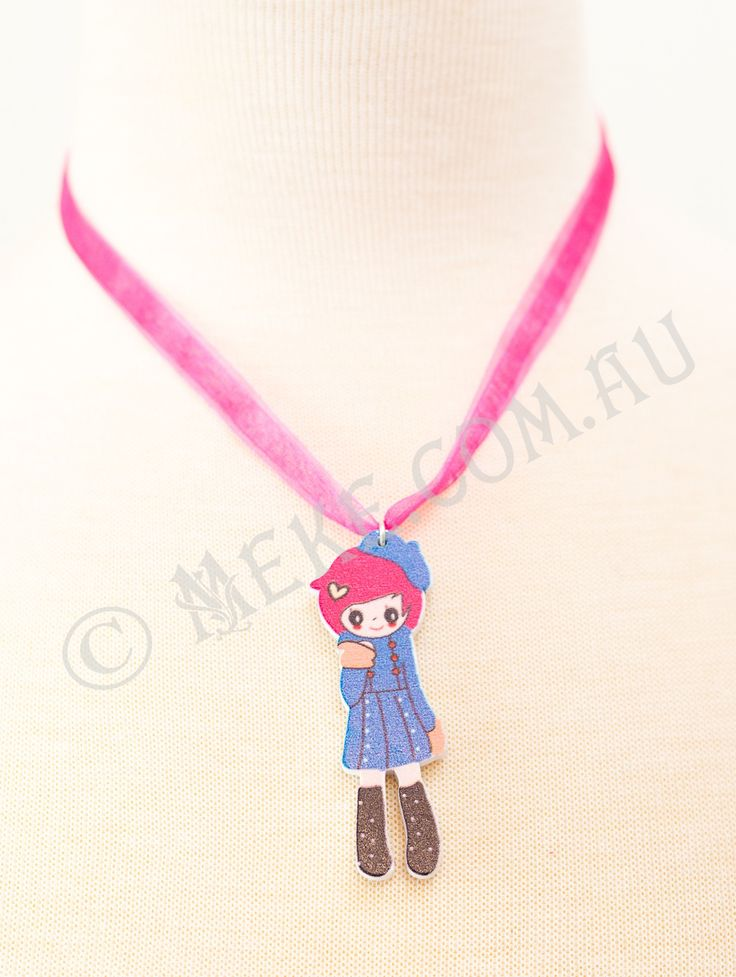 : : Cartoon Cutie Necklace : :  Your little cutie will look completely adorable wearing this gorgeous necklace!  Visit my Etsy store for more info, or to purchase: https://www.etsy.com/au/listing/153866362/cartoon-cutie-childrens-necklace-pink?ref=shop_home_active  Handmade with love and care by Marianne ♥