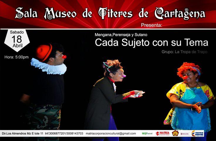 Sala-Museo de Títeres de Cartagena: Tarde Explosiva  Sabado 18 de Abril