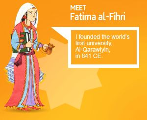 Fatima al-Fihri founded the world's first university, Al-Qarawiyin in 841 CE.