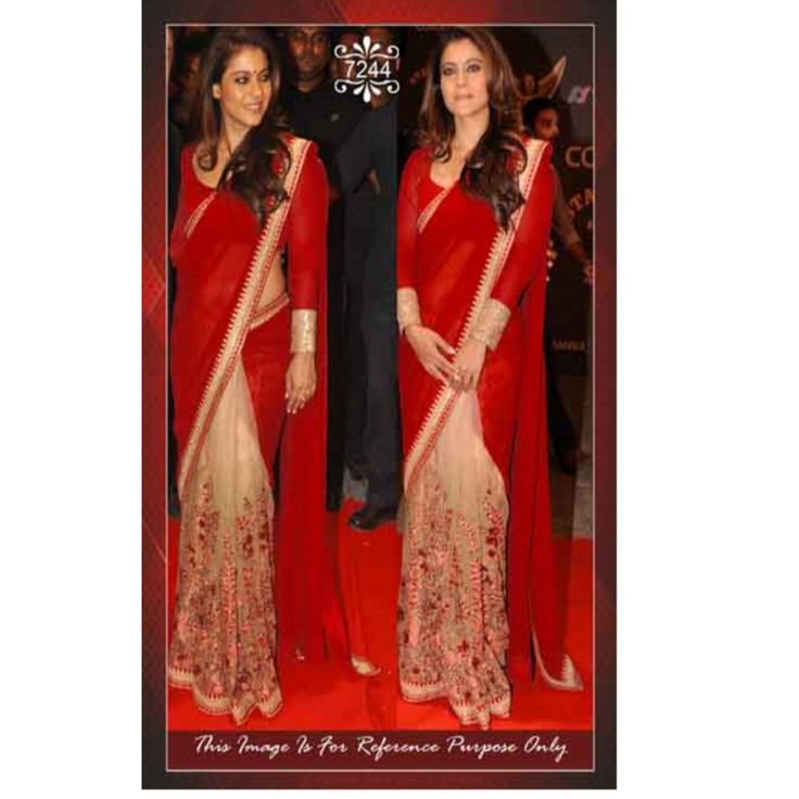Latest Top Selling Red Bollywood Saree With Blouse