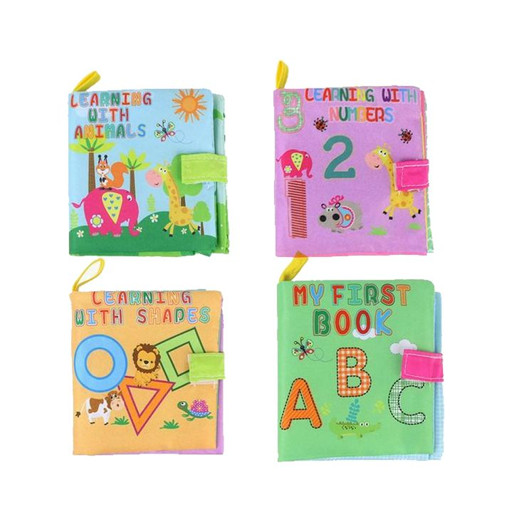 Colorful Cloth Learning Books (Animals, Characters, Numbers and Shapes)