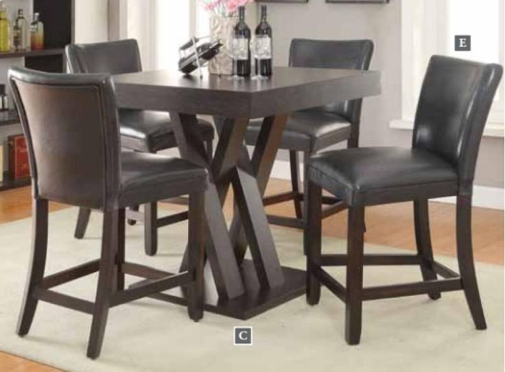 Lowest Price Online On All Coaster Counter Height Dining Table In Cappuccino