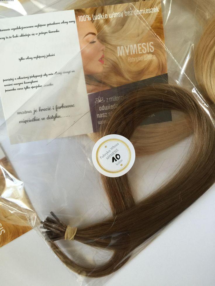 100 % naturalne włosy europejskie kolor 10  ciemny naturalny blond -pasma do zgrzewarki