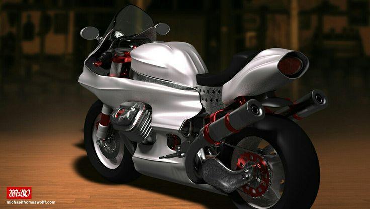 Moto, 3D, España, Marbella
