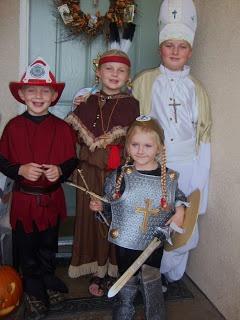 DIY saint costumes