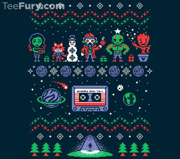 make the holidays awesome with a guardians of the galaxy ugly christmas sweatshirt