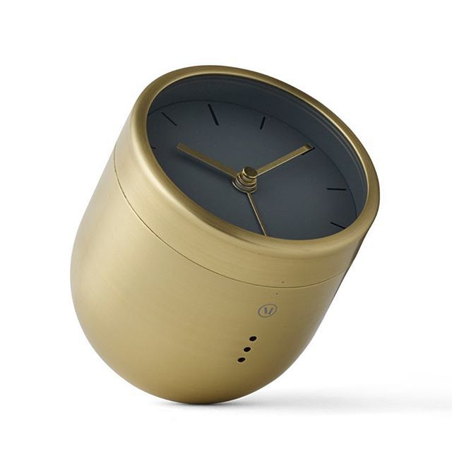 #Architects  #KasperRønn and #JonasBjerre-Poulsen created the company @normarchitects with the aim to focus on quality, durability and timelessness.  The #Norm #TumblerAlarmClock is a contemporary interpretation of the traditional #alarmclock, with a playful twist.  When the alarm goes off, instead of fiddling with a button, you simply turn the clock upside down to make it stop.  The brushed #brass #clock has been cleverly designed to hold its position on the rounded base without falling or…