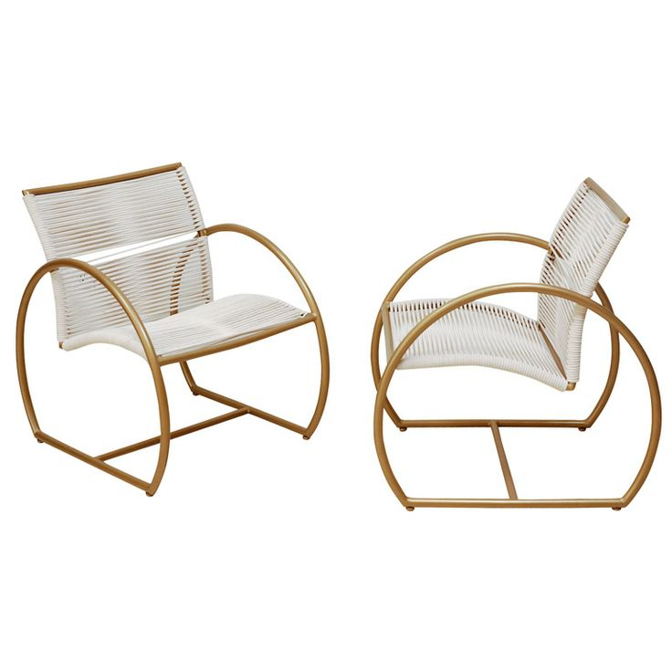 1stdibs - Pair of Mid-Century Brass and Rope Chairs explore items from 1,700  global dealers at 1stdibs.com