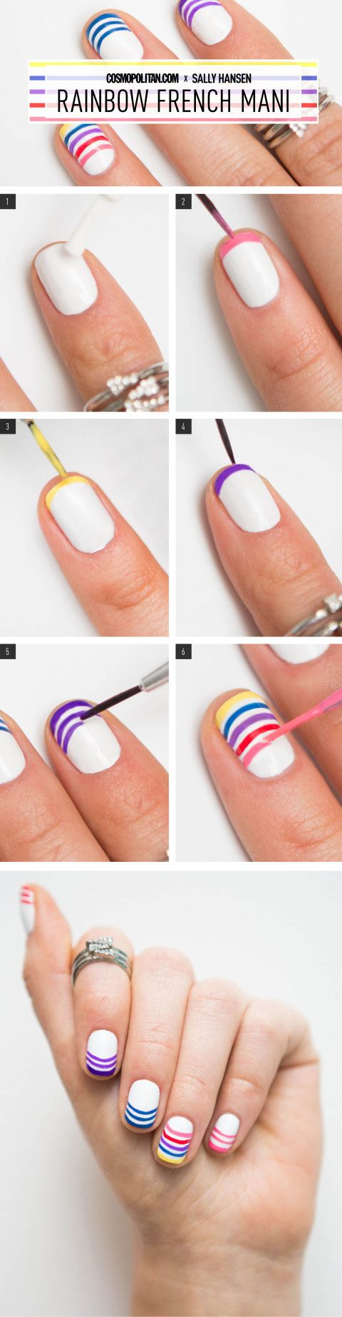 28 best Alternative French Manicure images on Pinterest   Nail ...