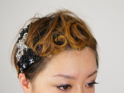 くるっとカールのショートヘアー前髪アレンジ