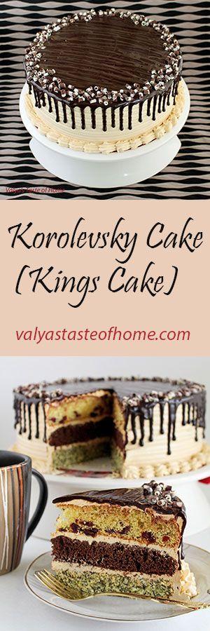 Korolevsky Cake (Kings Cake) Can make plain layers or add chopped choc chips, heath bits, cinnamon, etc.