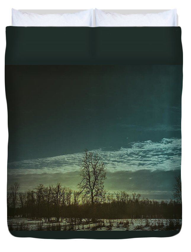 """Winter Glow"" landscape photography on a duvet cover for your bed by Valerie Rosen Photography."