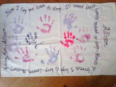 Personalized pillow case. Great for party kid sleepovers and party favors for birthdays.