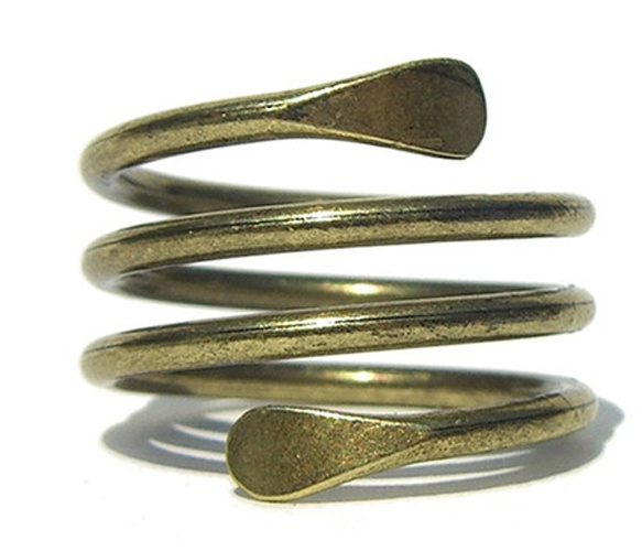 Bronze spiral bracelet via Uncovet