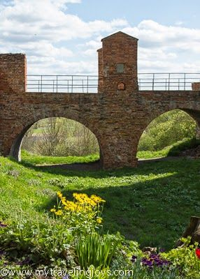 Crossing the medieval bridge at the Mazovian Dukes' Castle in Czersk, #Poland.