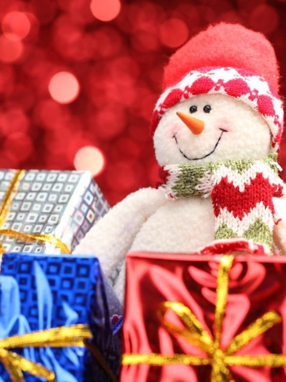 Рождественский Снеговик Backdropthe Новогодний Подарок Фотография Фон Рождество Sd-013