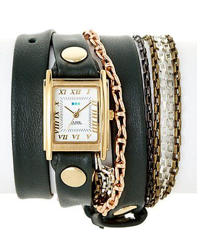"""La Mer Women's """"Multichain"""" Wrap Watch"""