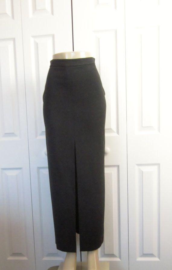 Maxi Black Pencil Skirt