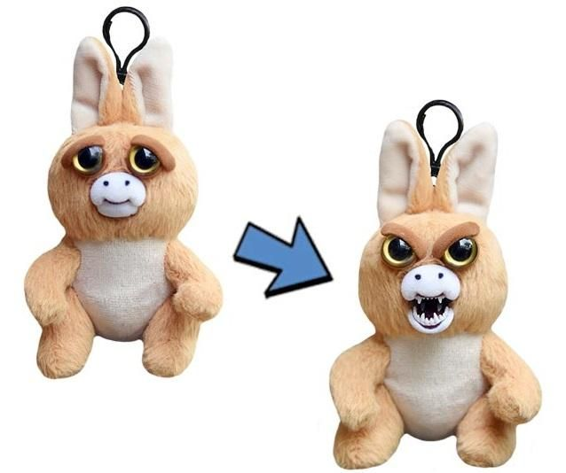 William Mark Mini Feisty Pets Jacked Up Joey Adorable 4 Plush Stuffed Kangaroothat Turns Feisty With A Squeeze