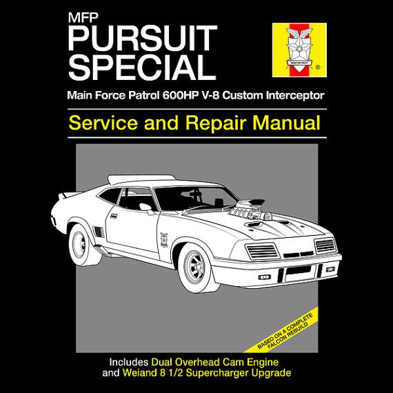 Pursuit Special Service and Repair - Mad Max T-Shirt -  1980's Movie Parody Clothing