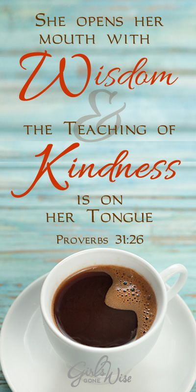 teaching of kindness on my tongue