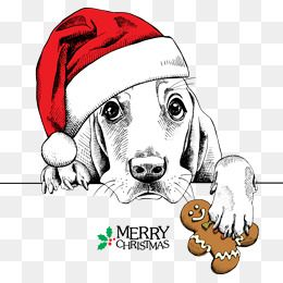 Dog Clipart Decoration Vector Christmas Greeting Elements Dog Meng