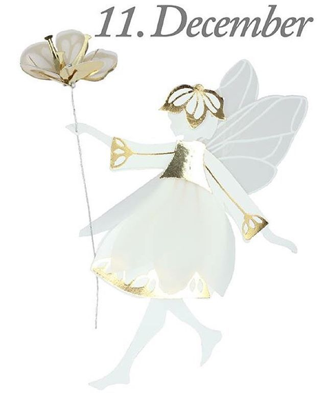 Good morning, 11th of December. The design of the day is our White & Gold Fairy with flower.  Like our Facebook page & the post of the day and you might be the lucky winner! The White & Gold Fairy with flower costs 89,-dkk in our web-shop www.jettefroelich.dk, but for today only! (Normal price 139,-) #christmascalender #christmasgiveaway #facebook #whiteandgoldfairywithflower #jettefrölich #jettefroelich #jettefrölichdesign #jettefroelichdesign #danishdesign #scandinaviandesign