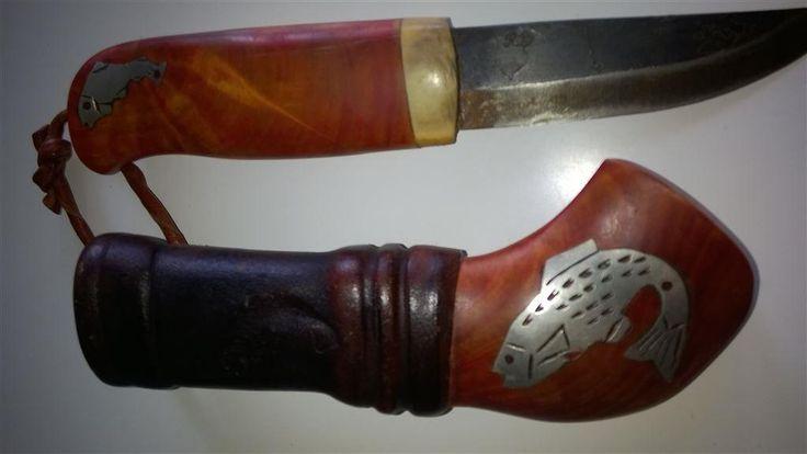 handgjord kniv. oanvänd med örings innlägg. på Tradera.com - Jaktknivar