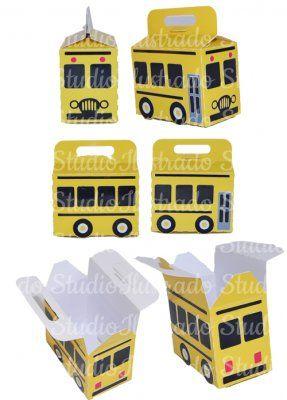 Caixa Ônibus Escolar, 3D, 3D model, 3D Project, Modelo 3D, Projeto 3D, Silhouette, School Bus Box, Educação, Education, Transporte, Transportation