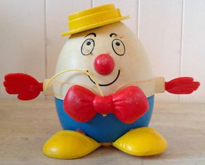 Vintage 1960. Collection Jeu ancien Fisher Price Humpty Dumpty