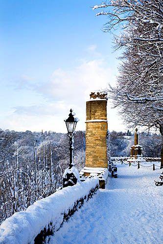 ~The Castle in Winter Knaresborough North Yorkshire England~