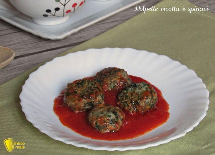 Polpette+ricotta+e+spinaci+al+pomodoro