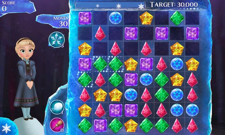 Frozen Free Fall  Just Like The Hobbit and The Lone Ranger, Frozen Free Fall game is also introduced by Disney Company in promotion to their newest Animated movie Frozen. You start playing game with the character Else and as you move on there are more characters like Anna, Hans and Pabbie which you can unlock by getting more points. There are 90 icy Puzzles which you have to solve. Utilize your best of Matching skills to play this game effectively.
