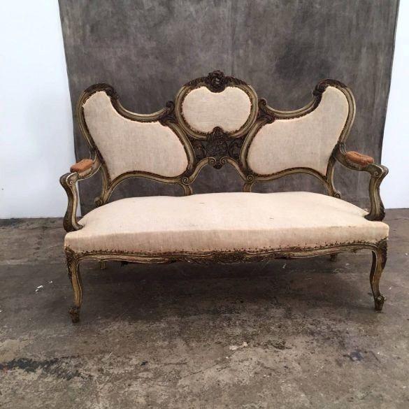 Canape De Style Lxv Baroque Vers 1880 P P Antiquites Proantic Canape Ancien Chaise Longue Canape